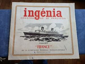 ingenia Paquebot France maquette 1/400 1962