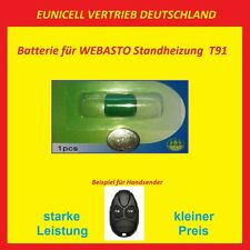 WEBASTO Batterie für Handsender Fernbedienung T91 Standheizung 3V EUNICELL VERTR