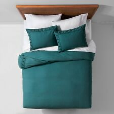 Tribal Border Garment Washed Duvet Cover Set - Opalhouse Teal Twin Xl