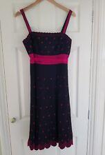 Monsoon black & pink tea dress - size 12
