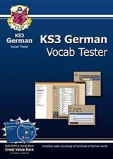 KS3 Alemán interactivo VOCAB Probador - DVD-ROM y Libro Por CGP Pape