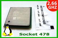 2.66 GHz Socket 478 Pentium 4 CPU. 533 Bus OVERCLOCKABLE 2.66/512/533