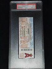 MIKE TROUT 1ST  MLB HIT GAME FULL SEASON TICKET STUB GRADED PSA 10 GEM MINT