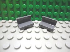 Lego 2 Dark Bluish Gray 1x2x1 wall panel NEW