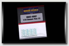 Hobby Design 1/24 Bonnet Pins (2)