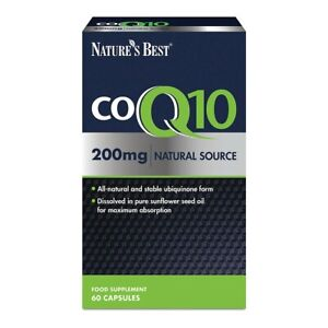 Co Enzyme Q10 [CoQ10] 200mg (Ubiquinone) – 60 Vegan Capsules – One-A-Day