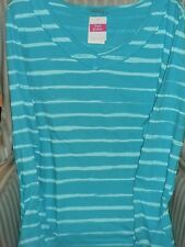 """NWT FRESH PRODUCE WMS """"BRUSHED STRIPE"""" TAKE IT EASY TEE . A MUST HAVE...(1X)"""