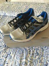 Asics Gel Contend 4 Shoes Silver Classic Blue Mens Shoes Size 11.5  New In Box