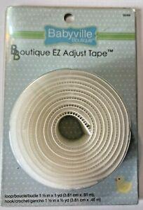 Babyville Boutique White EZ Adjustable Tape Loop Hook Easy Closures Sew On 35069