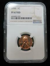 1956 Lincoln One Cent * NGC Graded PF67 RD * Beautiful Coin and a Nice Holder