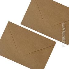 25 x C6 Brown Ribbed Kraft 100gsm Envelopes 114 x 162mm  4.48 x 6.37 inches