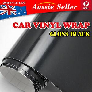 Bubble Release Gloss Black Vinyl Wrap Car Exterior Sticker Guard Film 1.51Mx30CM