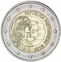 Portugal 2 Euro 2010 bankfrisch 100 Jahre Republik