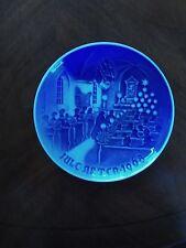 """1968 """"Jule Aften"""" Christmas in the Church B & G Kjobenhavn Denmark Plate"""