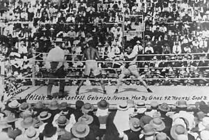 Joe Gans And Battling Nelson 1906 OLD BOXING PHOTO