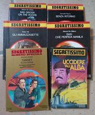 SEGRETISSIMO - 936-937-1042-1083-1092-1215 - 6 LIBRI - MONDADORI - SPIONAGGIO