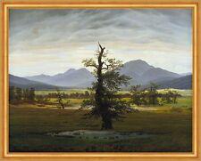 Der einsame Baum Dorflandschaft Morgenlicht LW Caspar David Friedrich A2 010