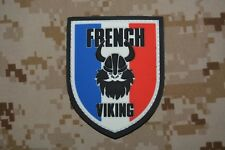 Z791 écusson insigne patch militaire armée 3D PVC French Viking Airsoft patriote