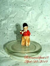 Antique Signed GERMANY Boy Porcelain Traditional Outfit MINIATURE 2'' Doll