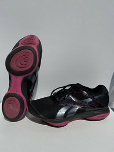 Reebok Easytone Shoes Women Size 8 Black Pink Rocker Shaping Toning Athletic O11