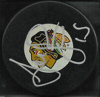 ANDREW BRUNETTE SIGNED CHICAGO BLACKHAWKS HOCKEY PUCK MINNESOTA WILD AUTOGRAPH 2