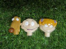 Vintage Nickelodeon Cartoon Cereal Freebies Rugrats Pencil Topper Figures x 3
