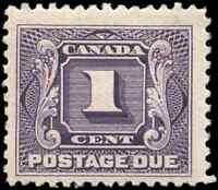 Canada #J1 mint F-VF OG H 1906 First Postage Due 1c violet CV$25.00