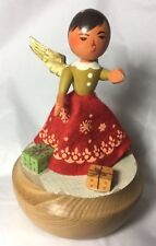 Vtg Reuge Wooden Music Box West Germany O Come All Ye Faithful Works! Rare