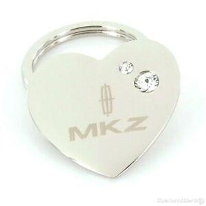 Lincoln MKZ Heart Shape Keychain With Swarovski Crystals (Chrome)