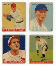 1933 Goudey Lot of 4 Different