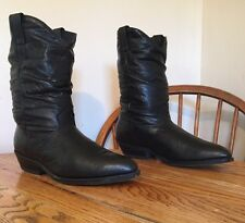 Laredo Women's Western Cowboy Black Slouch Boots Size 9 EE Nice USA Free Ship EC