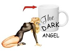 The Dark Angel Sexy Pin-Up Coffee Cup Usmc Army Navy Seals Marines Rockabilly