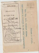 ITALY 1941 POSTAL STATIONERY COVER WITH MONEY ORDERS RECEIVED  TO ARADEO LECCE