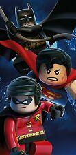 LEGO DC COMICS SUPERHEROES BATTLE BATH BEACH TOWEL BATMAN ROBIN SUPERMAN COTTON