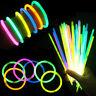 10-300Pcs Glow Sticks Bracelets Necklace  Neon Colour Party Favors Rave Disco