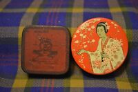 Pair of Vtg Typewritter Ribbom Tins-MONARCH Kee-Lox Co&MadameButterfly Miller
