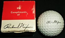 Western White House Nixon Autograph Golf Ball With Presidential Seal and Box
