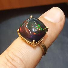 tiffany co 18k yellow gold ring natural black opal 650ct cushion cut - Elsa Peretti Color By The Yard Ring