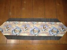 Regular Table Runner - Perched and Flying Eagles Brown Back