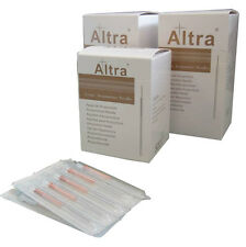 One Box of 100 Altra Acupuncture Needles L Type with Guide Tubes.