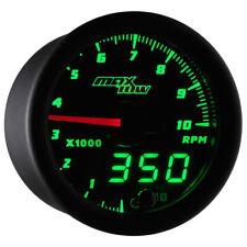 MaxTow 52mm Black Double Vision 10,000 RPM Tachometer Gauge - MT-DV10