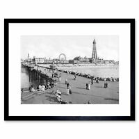 Vintage Photo Blackpool From North Pier One Framed Print 12x16 Inch