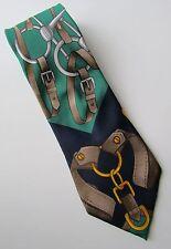 VTG GUCCI Italy Equestrian Bridle  Classic Silk Tie