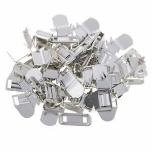 10pcs Sets of Non-Sew On Clasp Trousers Hook and Bar Closure Clothing Fasteners