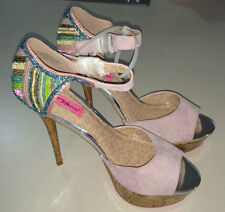 WOMEN'S 'BETSY JOHNSON' 15CM HIGH HEELS. SIZE 10 BNWOT (C80)