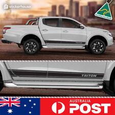 Mitsubishi Triton 2015 - 2018 Side Stripe Decal Sticker Kit SUIT Double Dual Cab