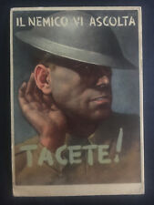 1943 Italy Propaganda postcard cover Army Fieldpost The British are Listening