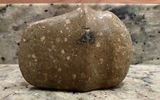 "NATIVE AMERICAN 4.75"" CARVED & GROOVED STONE AXE HEAD"