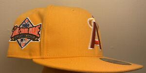 Hat Club Exclusive Los Angeles Angels Pink Lemonade 7 1/4 Pink UV Patch Cap MLB