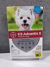 Brand New Bayer K9 Advantix Ii Topical Medium Dog Flea & Tick Treatment 11-20lbs